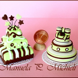 mint and choco wedding cakes - July 2011