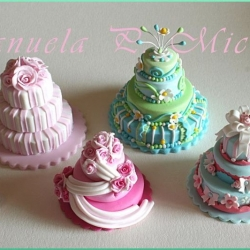 group pic of some of my miniature wedding cakes - Ocotber 2011