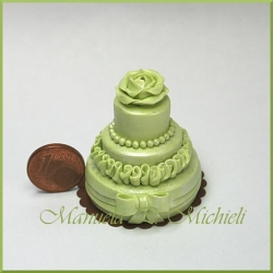 Pearl green wedding cake - October 2012