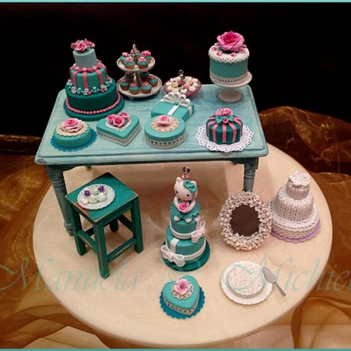 Tiffany colour inspired cakes - February 2015