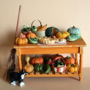 Tavolo Arancio piccolo richiamo ad Halloween - 2009