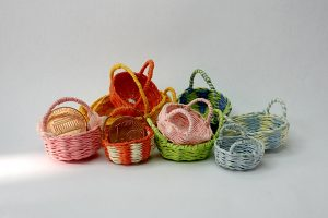 Some samples of finished baskets.